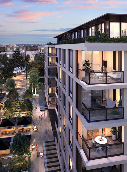 Rendering of Sydney's Newmarket Randwick, a new development about 10 kilometers from the Opera House