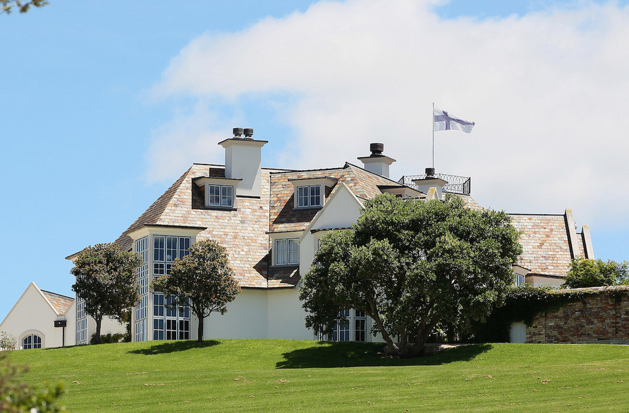 An exterior view of Kim Dotcom's Auckland property in 2012.