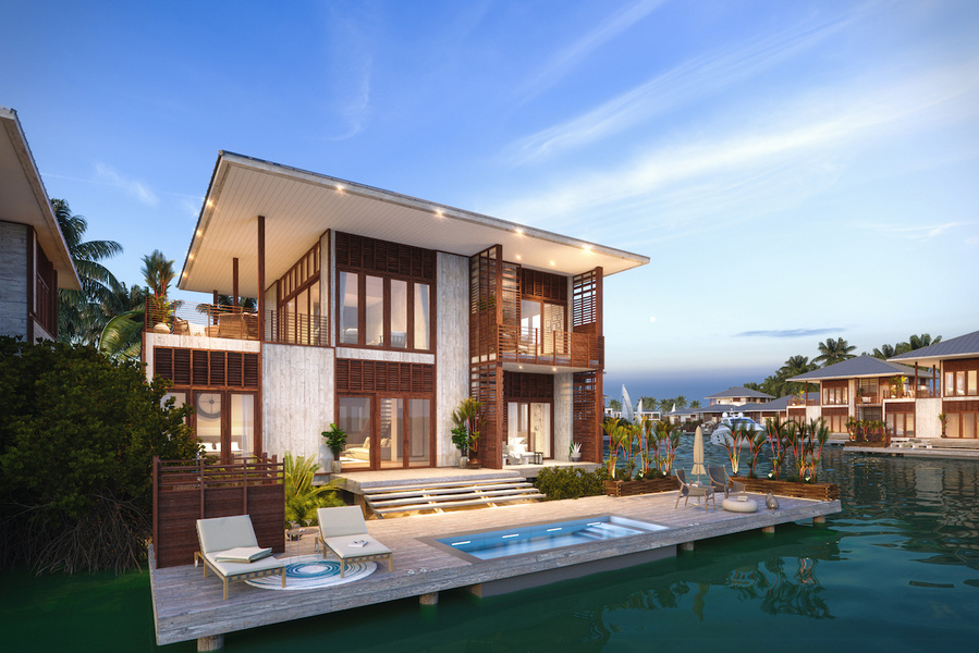 An exterior rendering of Itz'ana Belize Resort & Residences