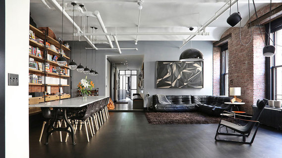 每日豪宅 | 工业建筑改造的纽约经典阁楼公寓