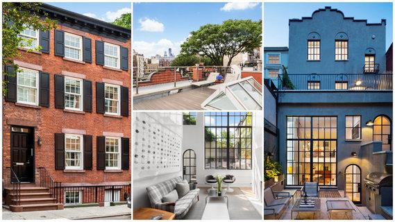 每日豪宅 | 户外空间宽阔的曼哈顿西村联排别墅