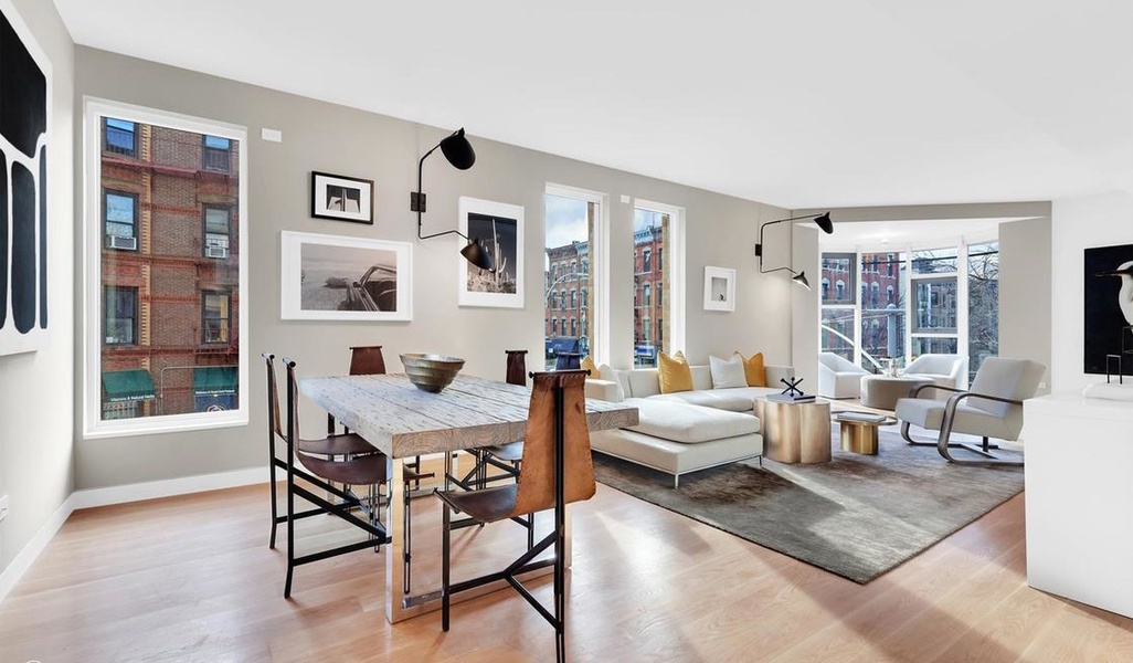 Interior view of a three-bedroom, three-bathroom apartment that's currently listed at $2.99 million.