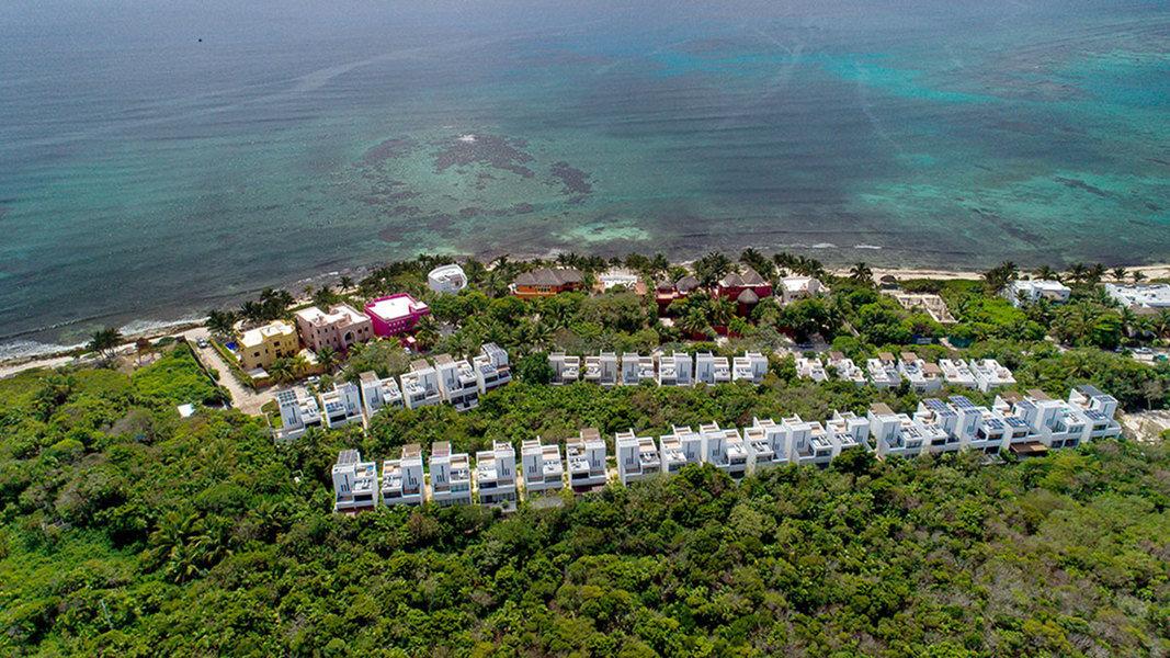 Vista aérea de Tao Ocean Residences en México
