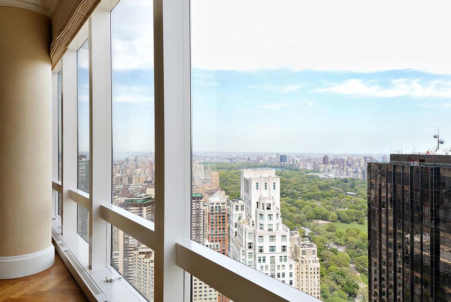 Una vista del Central Park desde el departamento en el Time Warner Center.