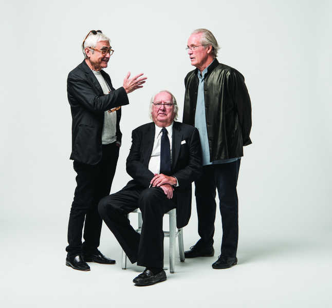 Starchitects Rafael Viñoly (left), Richard Meier (center) and William Pedersen are leading the design