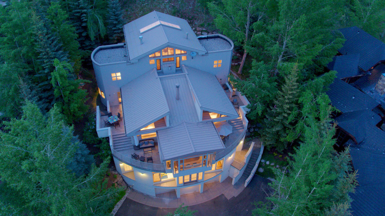 This contemporary mountain home was previously listed for $5.699 million. Bidding will be open August