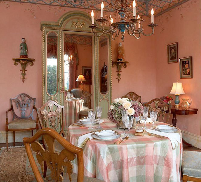The dining room in Mr. Posen's new penthouse before he moved in