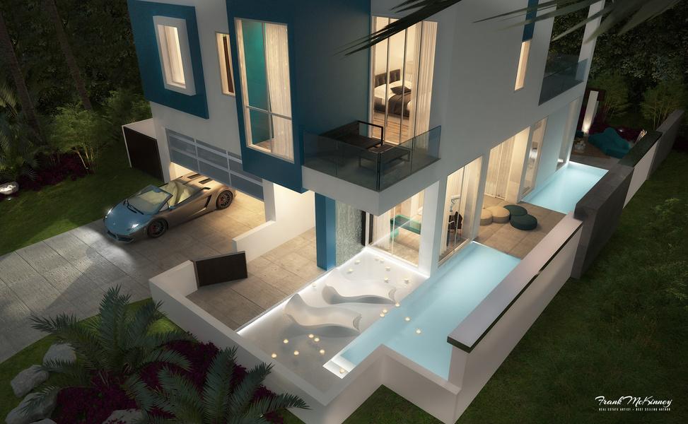 La 'micro mansión' de Frank McKinney está pensada para compradores de alto poder adquisitivo que busc