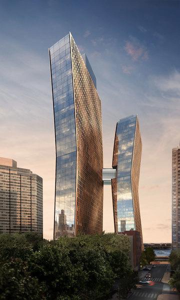 Representación del exterior de American Copper Buildings.