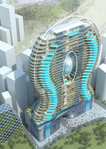 A rendering of Mumbai's Bandra Ohm