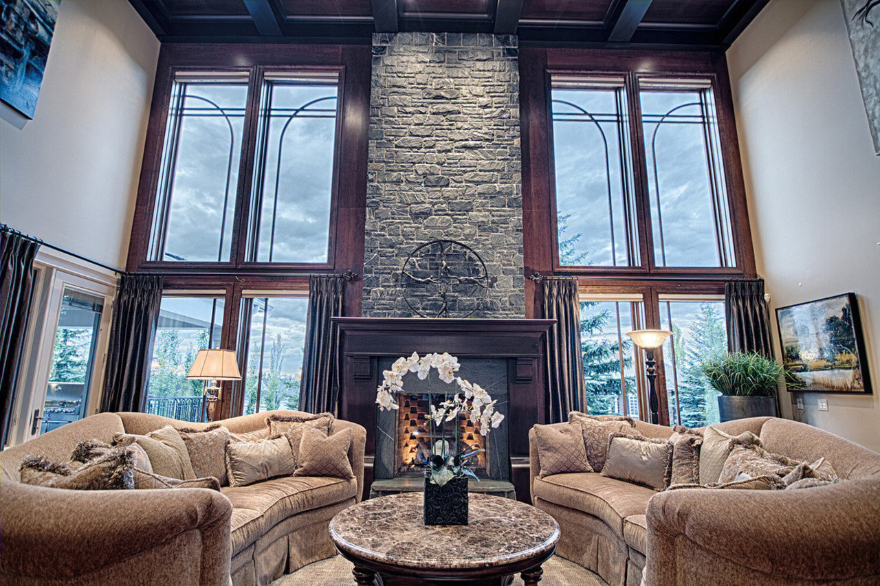 An interior view of a five-bedroom home in Aspen Estate. The property is comprised of two separate ti