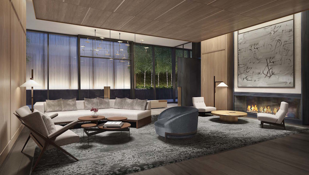 A lounge area at 111 Murray