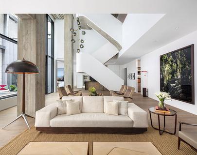 每日豪宅 | 附带私人花园的曼哈顿三层复合公寓