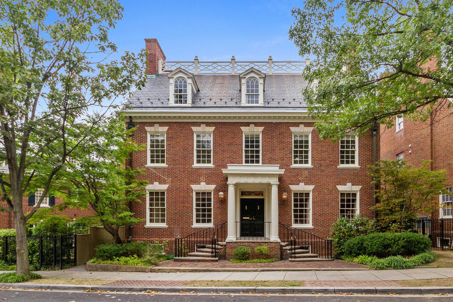 Built in 1930, this stately residence of the Federal Revival style in Kalorama neighborhood is for sale at $5.75 million.